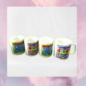 Colorful Heart Mugs-Standard Size💚